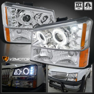 For 2003 2006 Chevy Silverado 1500 Projector Headlights Bumper Signal Lights