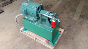 Hydraulic Power Unit Pump And Reservior 15 Hp 20 Gallons Tank