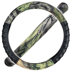 Camo Pattern Steering Wheel Cover Tpe Comfort Grip Universal Size Easy Install