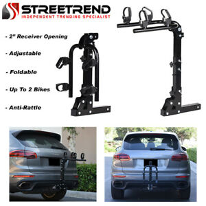 Hitch Mount Bike Rack 2 Bicycle Style Adjustable Foldable Trailer Carrier 2 Sd