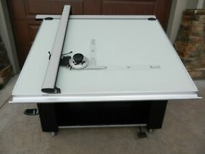 Mayline Desk o matic Ii Drafting Table 36x48 With Vemco 612 Drafting Machine
