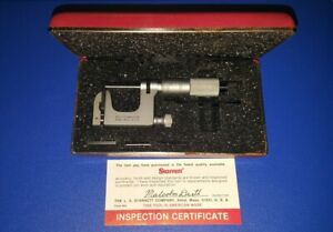 Starrett 220 0 1 Mul t anvil Micrometer Multi Anvil Step Mic With Case