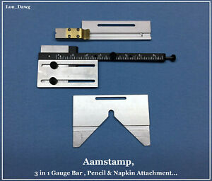 Aamstamp Machine 3 In 1 Gauge Bar Attachments Hot Foil Stamping Machine