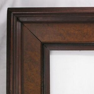 Antique Fits 13 5 X 19 5 Picture Frame Fine Art Walnut Wood Country Deep Cove