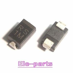 500 Pcs Rs1m Do 214ac Fr107 New 1a 1000v Recovery Diode