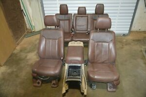 99 16 Ford F250 F350 King Ranch Interior Set Seat Front Rear With Console