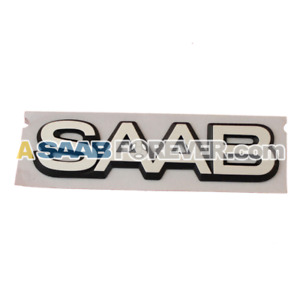 Saab 9000 85 93 Cd 4dr Badge Emblem Rear 6963375 New Genuine Oem Discontinued