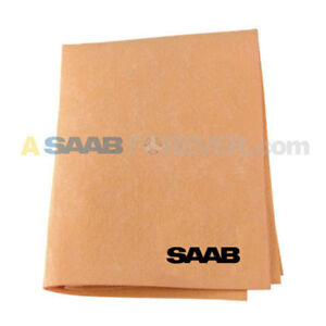 Saab Chamois Cloth Saab Logo In Black Dealer Accessory Car Detailing Rare