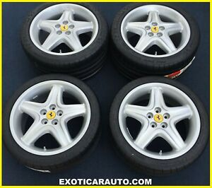 New 18 Oem Ferrari 512tr Wheels Michelin Tires Speedline Rims Testarossa