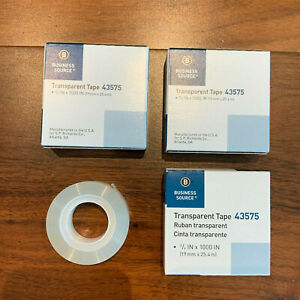 3 Pack Glossy Transparent Tape 1 Core 3 4 Refill Office Roll Ship Fast Free Us