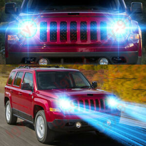 For Jeep Patriot 2007 2017 2pc 8000k Led Headlight High Low Beam Bulbs Lamp