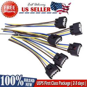 6xfemale Connector Plug Harness Ignition Coil For Toyota Lexus 4 Way 90980 11885