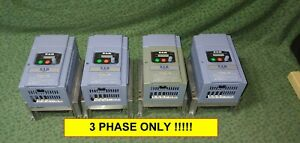 four 3 Hp Hitachi Vfd 3 Phase Variable Frequency Drive L100022hfu 27737 d2