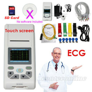 Ecg90a Handheld 12 lead Electrocardiograph Ecg ekg Machine Pc Software Sd Card