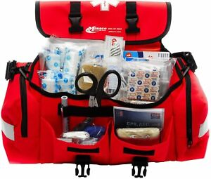 Trauma Bag First Aid Kit Medical Emergency Supplies Stocked Emt Ems Rescue Tools