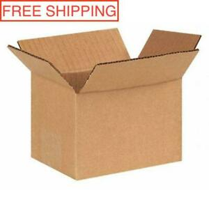 125 Pack 6x4x4 Cardboard Paper Boxes Premium Packing Shipping Corrugated Carton