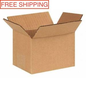 250 Pack 6x4x4 Cardboard Paper Boxes Premium Packing Shipping Corrugated Carton