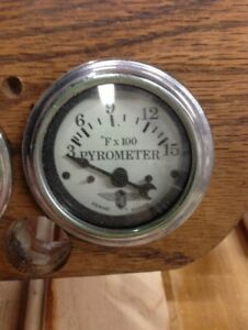 Stewart Warner Gauge Pyro Pyrometer And 2 Probes Exhaust Temp