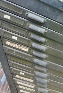 Antique Metal Cabinet W Drawers Ludlow Letterpres Pickup Only College Station Tx