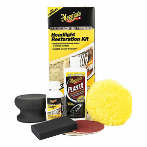 Meguiars Heavy Duty Headlight Restoration Kit Sanding Polishing Protect G2980