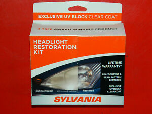 Sylvania Headlight Restoration Kit Restores Sun Damaged Head Light Uv Block Coat