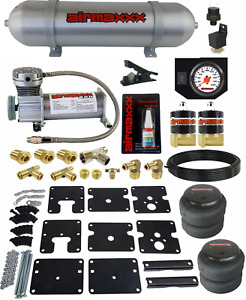 Air Tow Assist Kit No Drill 99 06 Chevy Silverado 1500 Compressor Tank Wht Gauge