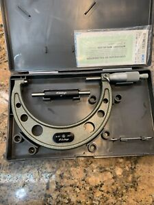 Mitutoyo Micrometer Carbide Anvil Ratchet Box Standard Papers 4 5 H66