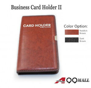 A99 Business Card Holder Ii Leather 120 Business Name Card Holder Book