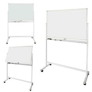 New Dry Erase Board Stand Magnetic Double Sided Whiteboard Wheels 3 Sizes Office