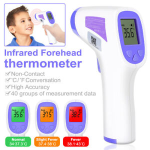 Medical Non contact Infrared Thermometer Lcd Digital Forehead Body Fever Adult