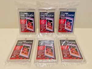 6x Ultra Pro One touch Magnetic Card Holders 35pt Factory Sealed 35 Pt Point