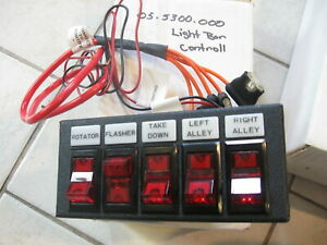 New Police Security Sho me Light Control Box Panel Switch 5 Position 05 5300
