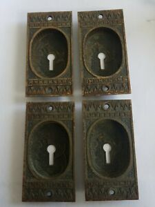 Antique Fancy Victorian Pocket Door Pulls