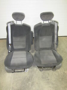 04 07 Ford F 250 F 350 Super Duty Extended Cab Dark Charcoal Gray Bucket Seats