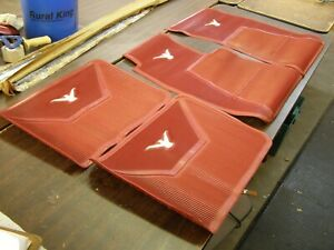 Nos Oem Ford 1958 1959 1960 Thunderbird T bird Red Rubber Floor Mats Mat Set