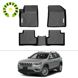 All Weather Floor Mats Liners For 2015 2020 Jeep Cherokee 3pcs Black Full Set