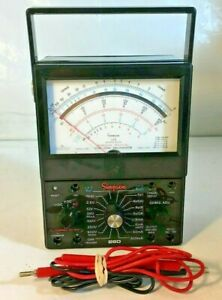 Simpson 260 Series 6xlpm Vom Volt ohm Multimeter Electrical Tester W Test Leads