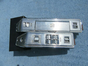 1971 76 Cadillac Driver Master Power Window Switch Panels Pair