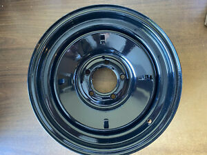 Set Of 4 Us Wheels Black Rat Rod Wheels15x5 15x10 With Baby Moon Covers