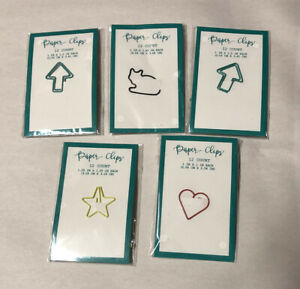 60 Pieces Cat Shaped Paperclips Bookmarks Heart Arrow Star 5 12packs Paper Clip