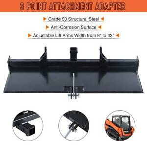 47 Skidsteer 3 point To Quick Tach Attachment Adapter Structural Steel Black