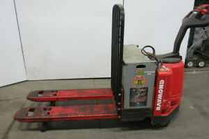 Raymond 111tm f60l 6000lb Capacity Electric Walkie Pallet Jack W 24v Battery