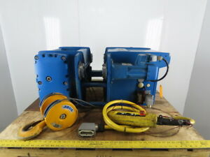 Abus 3 1 2 Ton Wire Rope Electric Hoist 20m Lift 0 80 4 8 M min W power Trolley
