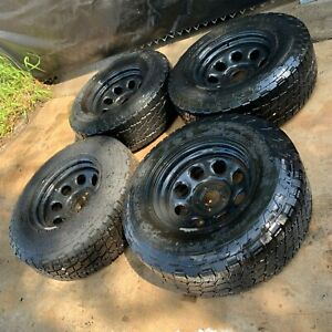 Nitto Terra Grappler All Terrain P285 70r17 Set Of 4 Tires And 4 Steel Rims