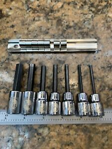 Armstrong 3 8 Drive 7pc Standard Hex Allen Key Sockets Small 1 8 To 3 8 H244