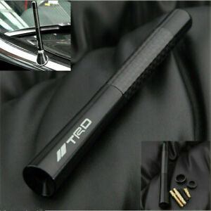 Black Carbon Fiber Trd Sports Style Short Antenna For Toyota 4 7 Inch