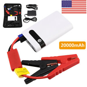 2w mah 12v Car Jump Starter Usb Power Bank Vehicle Battery Booster Clamp W case