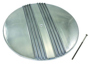 14 Center Classic Retro Finned Polished Aluminum Air Cleaner Lid Only Chevy V8