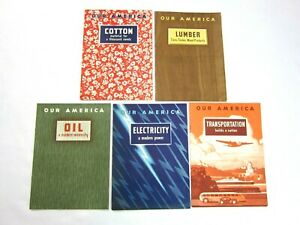1943 Coca Cola Our America Cotton Lumber Oil Electricity & Transportation Books