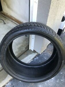 1 Continental Extreme Winter Tire 235 35r19 No Repairs